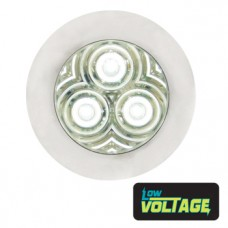 LED Round Marker Lamp - White / Clear