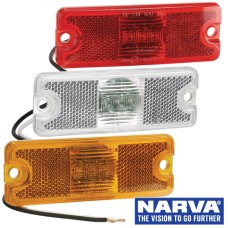 Narva Model 18 LED Marker Lamps with In-Built Retro Reflector - 114 x 41mm