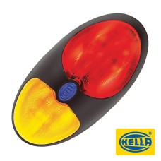 Hella 2033 DuraLED Side Marker Lamp - Red / Amber Illuminated