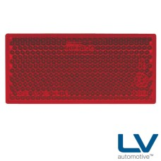 Self Adhesive Reflector 70 x 33mm - Red