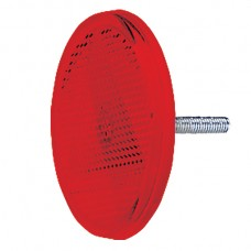 Round Retro Reflector Bolt On 65mm - Red