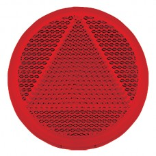Round Retro Reflector Self Adhesive 65mm - Red