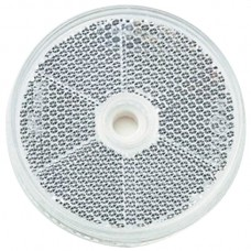 Round Retro Reflector Screw On 60mm - White