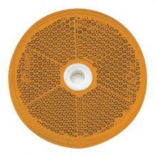 Round Retro Reflector Screw On 60mm - Amber