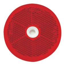 Round Retro Reflector Screw On 60mm - Red