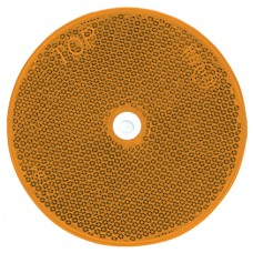 Round Retro Reflector Screw On 80mm - Amber