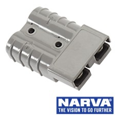 Narva Heavy Duty 50 Amp Connector Housing with Copper Terminals