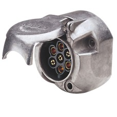 Narva 7 Pin Large Round Trailer Socket - Metal