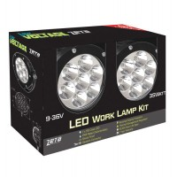ZETA Industrial Spec LED Driving Light Kit - 6972 Total Lumens