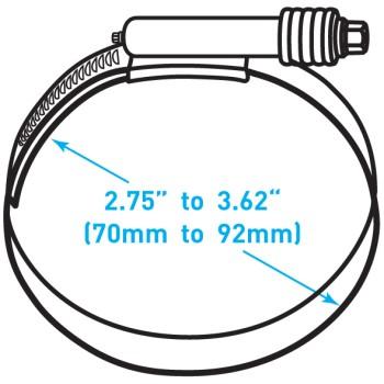 """Breeze Constant Torque® Clamp  - 2.75"""" to 3.62"""" Working Range"""