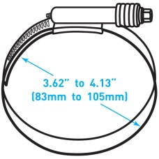 "Breeze Constant Torque® Clamp  - 3.62"" to 4.13"" Working Range"