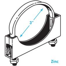 "Exhaust Flat Band Clamp, Zinc - 3"""