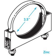 "Exhaust Flat Band Clamp, Zinc - 3.5"""