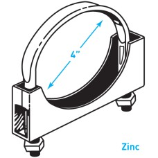 "Exhaust Flat Band Clamp, Zinc - 4"""