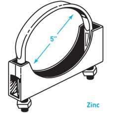 "Exhaust Flat Band Clamp, Zinc - 5"""