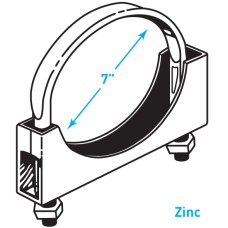 "Exhaust Flat Band Clamp, Zinc - 7"""