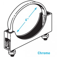 """Exhaust Flat Band Clamp, Chrome - 6"""""""