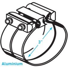 """Exhaust Torctite Lap Clamp, Aluminium - 3"""""""