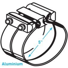 """Exhaust Torctite Lap Clamp, Aluminium - 5"""""""