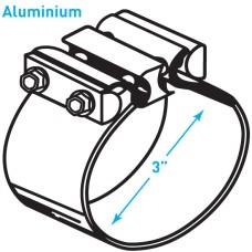 """Exhaust Torctite Butt Clamp, Aluminium - 3"""""""