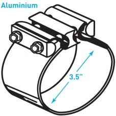 """Exhaust Torctite Butt Clamp, Aluminium - 3.5"""""""