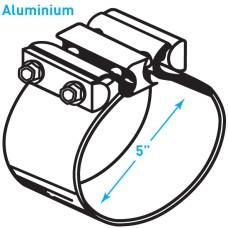 """Exhaust Torctite Butt Clamp, Aluminium - 5"""""""