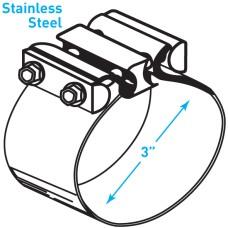 "Exhaust Torctite Easyseal Clamp, Stainless Steel - 3"""