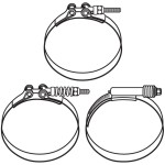 Exhaust Clamps Constant Torque & T-Bolt