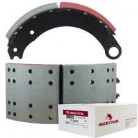 "Meritor-Euclid MG2 Lined Brake Shoe  - G.P shoes ""P"" type - 16.5"" x 7"". Comes with Hardware"