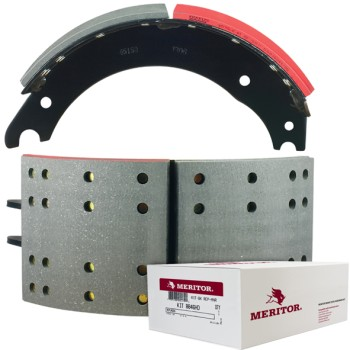 "Meritor-Euclid MG2 Lined Brake Shoe  -  Q Brake - 16.5"" x 7"". Comes with Hardware"