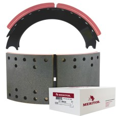 "Meritor-Euclid MG2 Lined Brake Shoe - Eaton shoes 4311J - 16.5"" x 7"". Comes with Hardware"