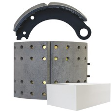 "Lined Brake Shoe - York 19.5"" - 335 x 210mm. Comes with Hardware"