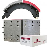 "Meritor-Euclid MG2 Lined Brake Shoe - 4705 Q Plus Meritor Steer - 15"" x 7"". Comes with Hardware"