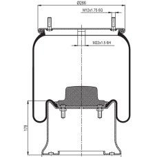 Air Spring Assembly - SAF Modular 2923V / Trailer