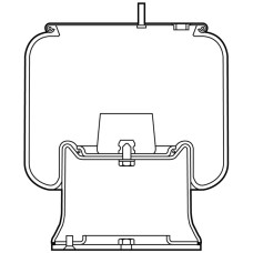Air Spring Assembly - SAF 2924V with Plastic Base