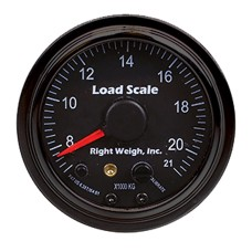 "Right Weigh 2.5"" Interior Mechanical Display / 21,000kg - Black Bezel"