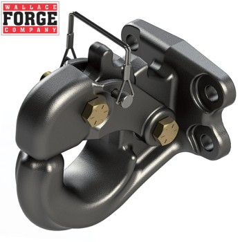 20t Rigid Mount Pintle Hook, 4 Bolt Pattern, ADR Approved - Wallace Forge