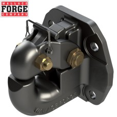40t Offset Rigid Pintle Hook, 4 Bolt Pattern, ADR Approved - Wallace Forge