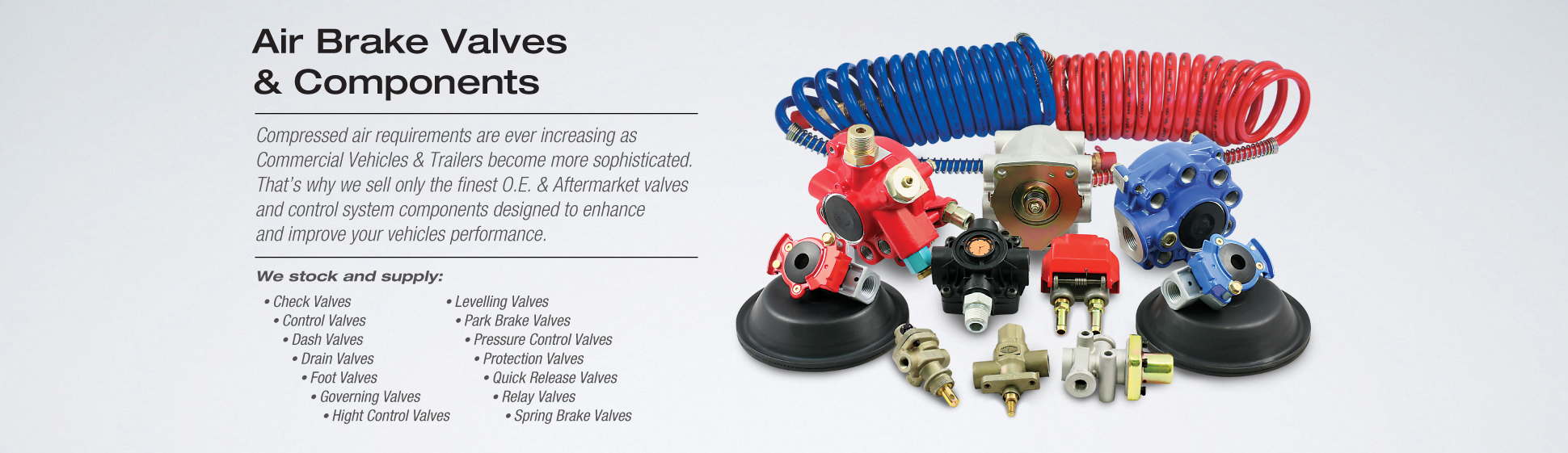 Air Brake Valves Components