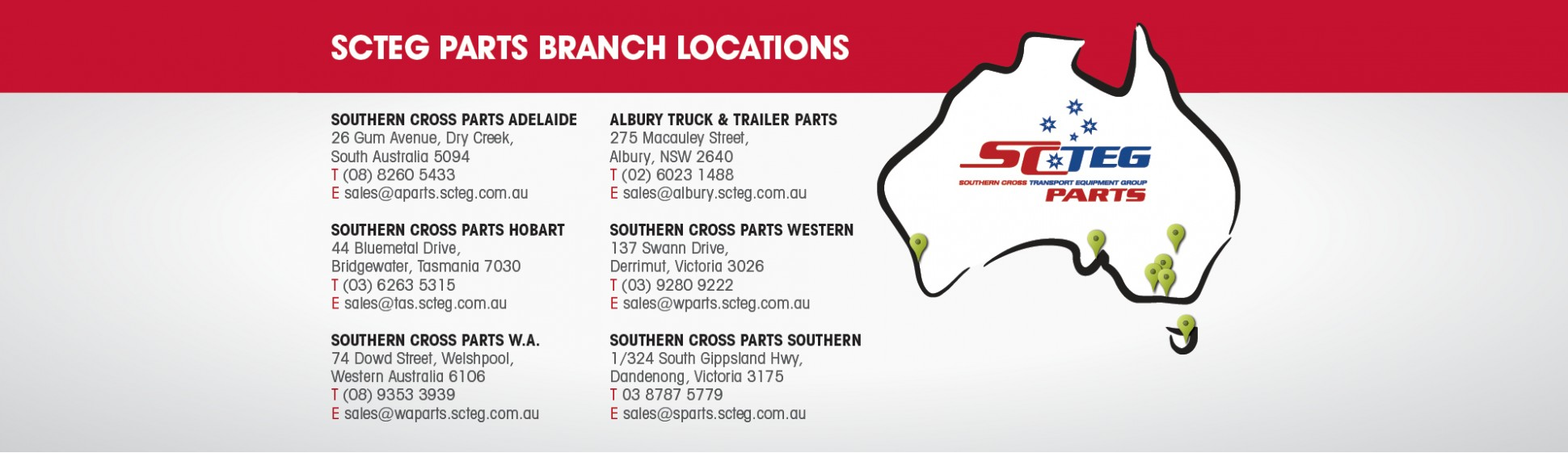 Truck Trailer Parts Branch Locations