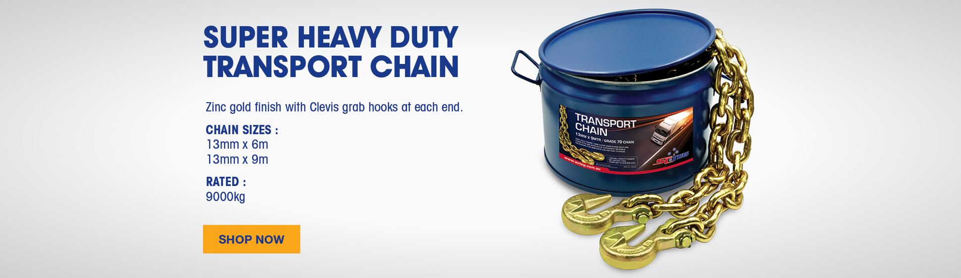 13mm Heavy Duty Transport Load Restraint Chain
