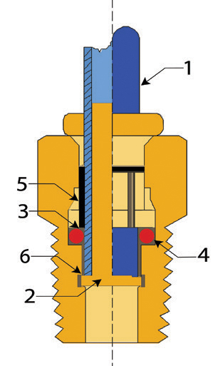 Adaptor - Metric Tube to Male Thread