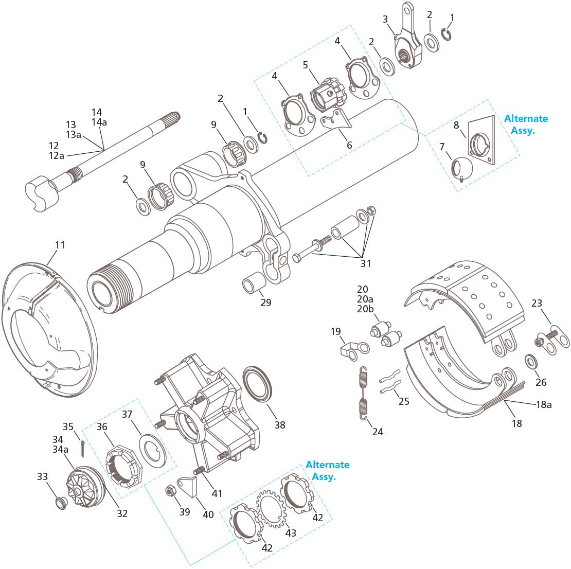 Fruehauf ProPar TP 165    x 7    Brake
