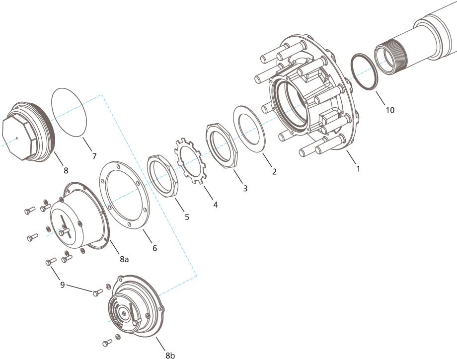 Meritor Steer Axle Parts Catalog : Hendrickson hus drum brake wheel end