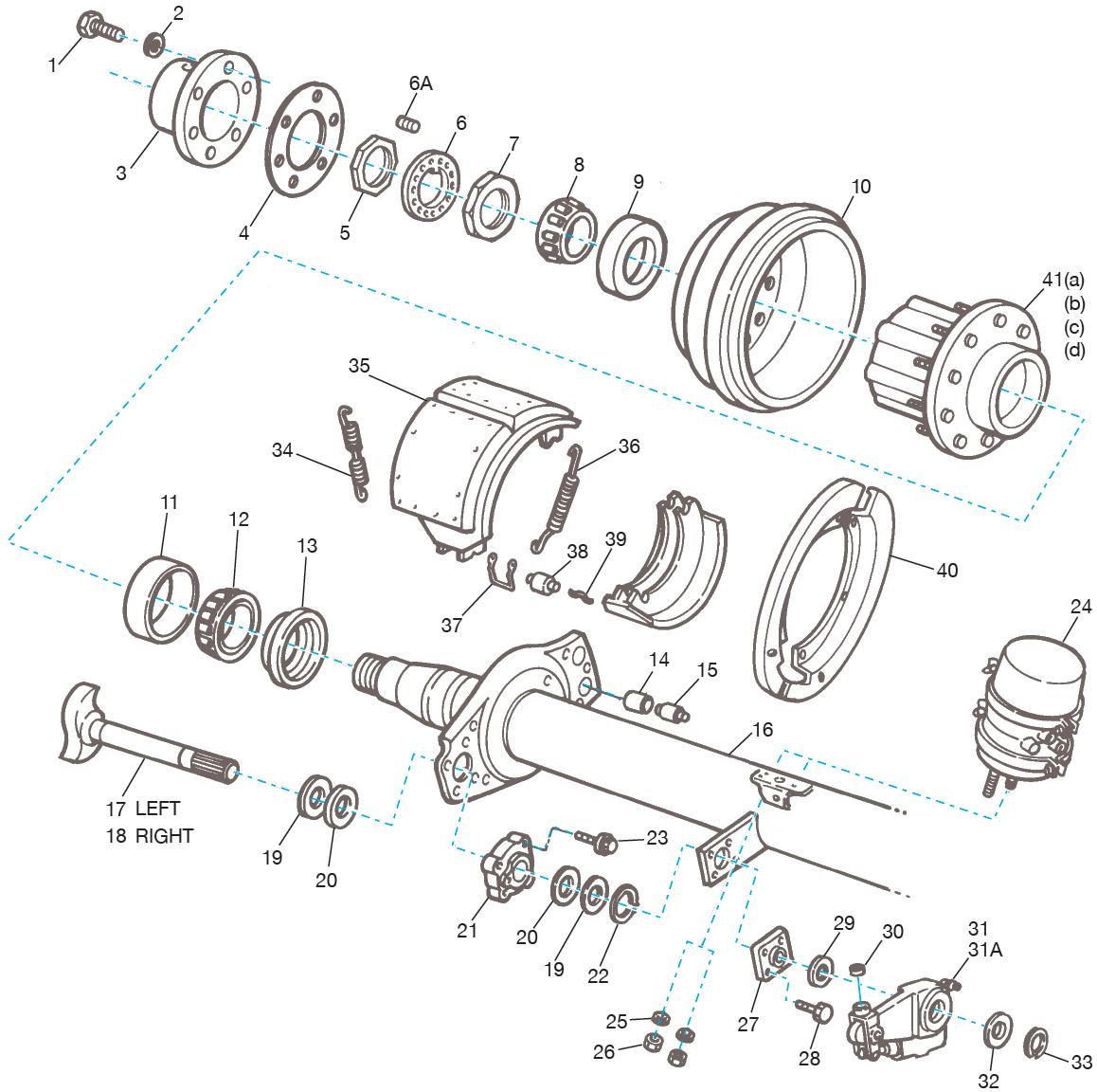 Meritor Steer Axle Parts Catalog : Meritor q brake