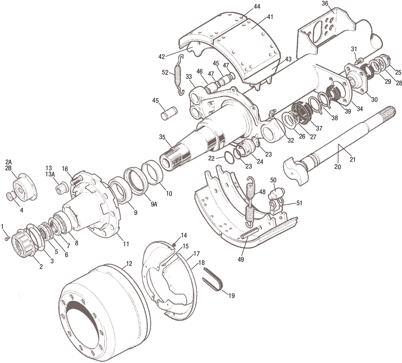 Meritor Steer Axle Parts Catalog : Ror bmx axle