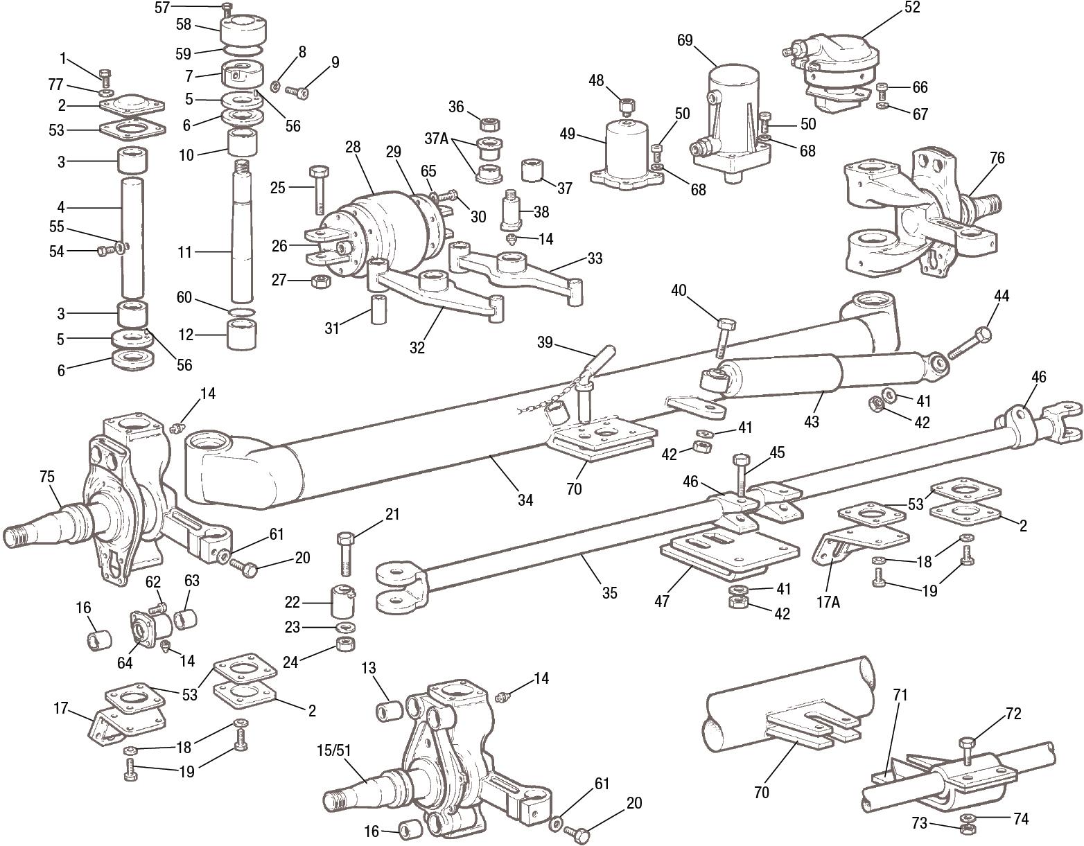 Meritor steer axle