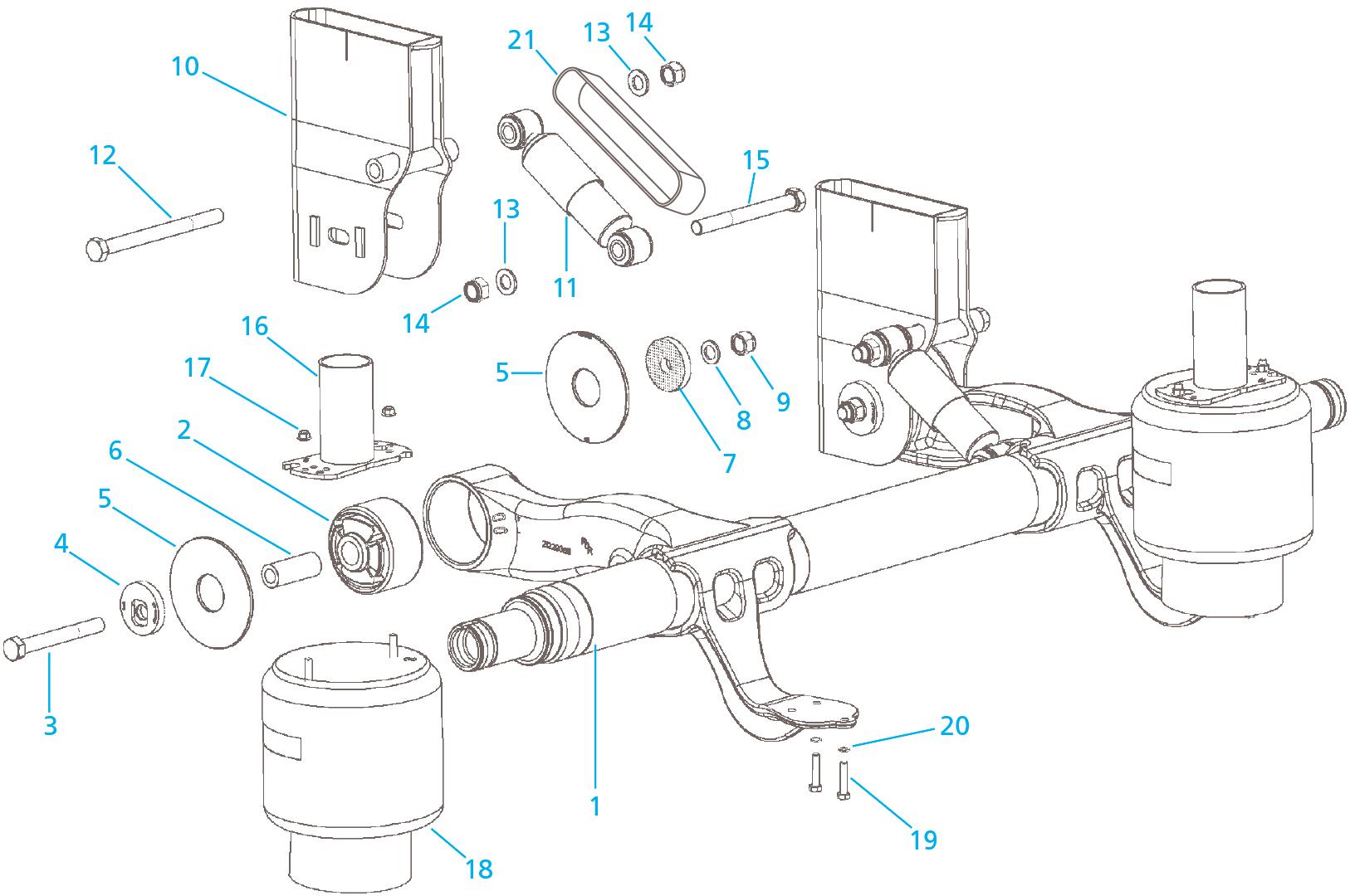 Meritor Axle Parts Catalog : Meritor cs i suspension assy top mount
