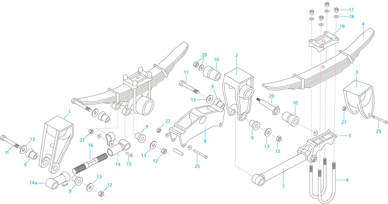 reyco model 21b mechanical suspension parts
